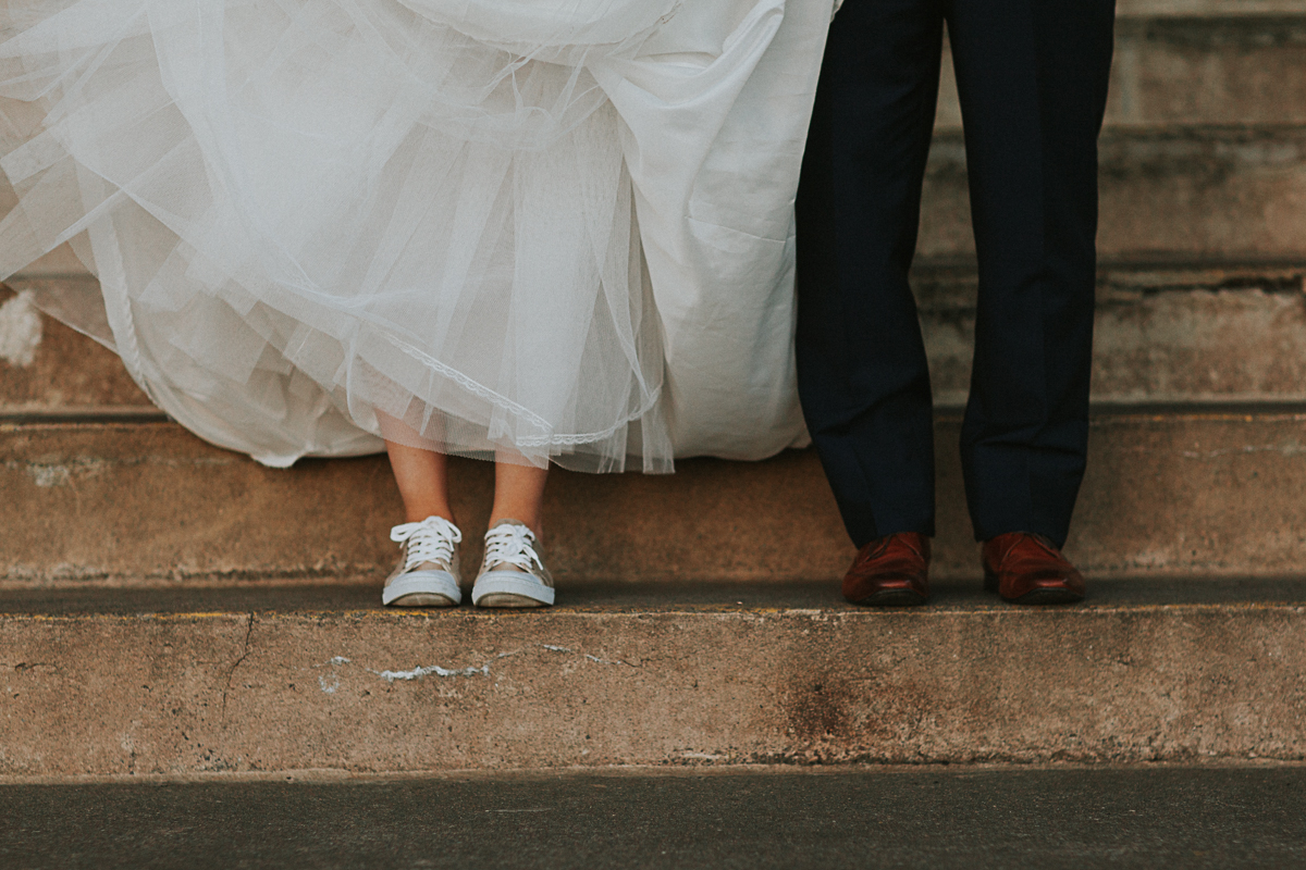 bride and groom feet wedding photo